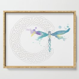 Celtic Knot Dragonfly Serving Tray