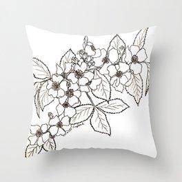 Vine Roses Throw Pillow