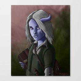 Kallista the Tiefling Warlock Canvas Print