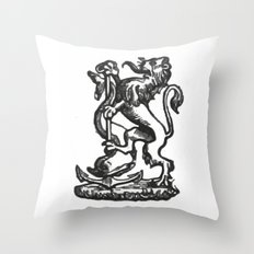 Anchor and rampant lion. Throw Pillow