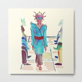 Fashion Dragon Fall Line Metal Print