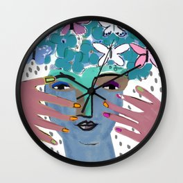 Gaia--Earth Goddess Wall Clock