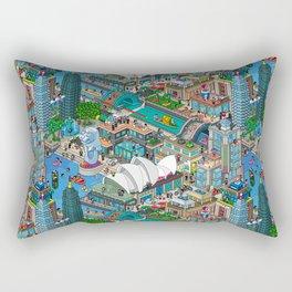 Pixelland Rectangular Pillow