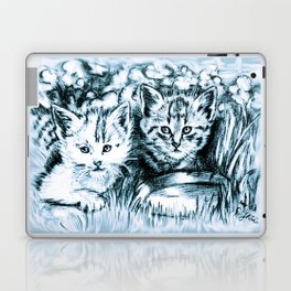 Blue Baby Cats Laptop & iPad Skin