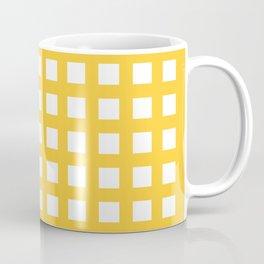 Thick Aspen gold yellow grid pattern Coffee Mug