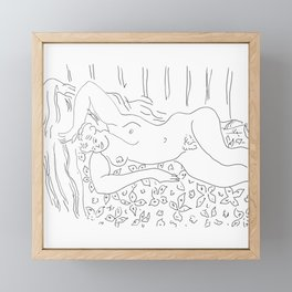 Matisse Line Art #8 Framed Mini Art Print