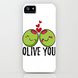 Olive You | I Love You | Valentine's Day Heart iPhone Case