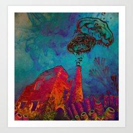 Kernow sleeps Art Print