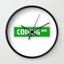 CODING Wall Clock