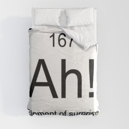 Ah The Element of Surprise T-Shirt Gift for Science Geek Short Sleeve Unisex T-Shirt Comforters