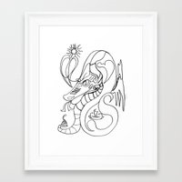 sea horse Framed Art Prints featuring Sea horse. by sonigque