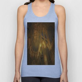 Cathedral Golden Light Unisex Tank Top