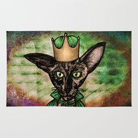 matisse Area & Throw Rugs featuring Queen Matisse the Oriental Shorthair by Studio 8107