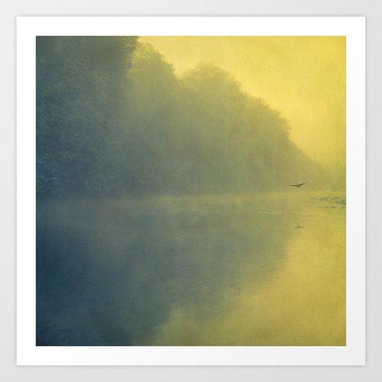 soft reflection Art Print