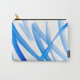 Blue Abstract Painting Carry-All Pouch