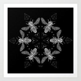 Mandala - Killer Bees Art Print