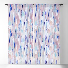 Abstract Painting Blue Pink Copper Blackout Curtain