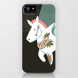 Tattooed horse iPhone Case