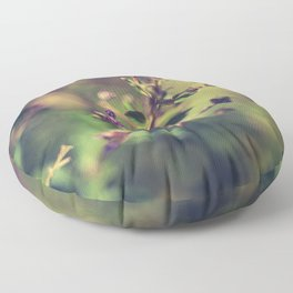 Purple wild flowers Floor Pillow