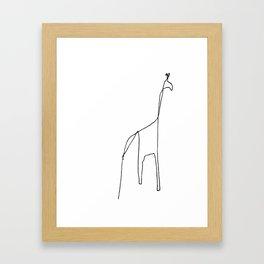 Line Giraffe Framed Art Print