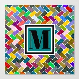 M Monogram Canvas Print