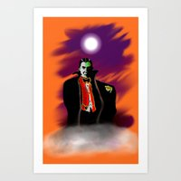 dracula Art Prints featuring Dracula by JT Digital Art
