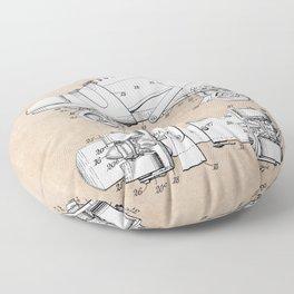 patent art Plimpton Roller Skate 1907 Floor Pillow