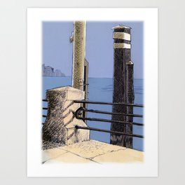 Baveno Dock, Northern Italy Art Print