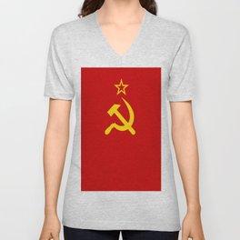 Flag of USSR Unisex V-Neck