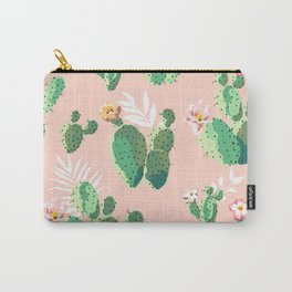 Vintage Cactus Pattern Carry-All Pouch
