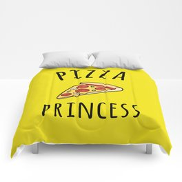 Pizza Princess Funny Quote Comforters