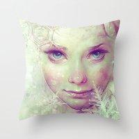 elsa Throw Pillows featuring Elsa by Anna Dittmann