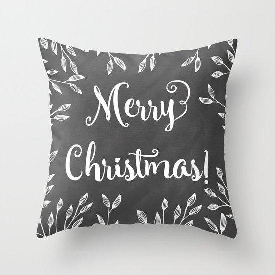 Monochrome Christmas Throw Pillow