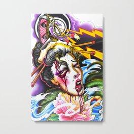 Geishas Nightmare Metal Print