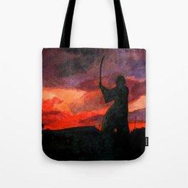 Samurai Sunset Tote Bag
