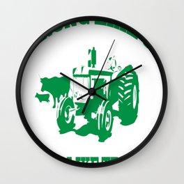 Strong Like Ox Smart Like Tractor Funny Farmer T-Shirt Wall Clock