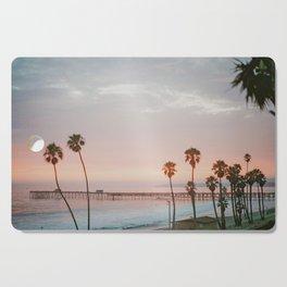 palm trees sunset vi / san clemente, california Cutting Board