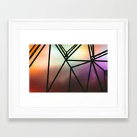 one line Framed Art Prints featuring Line One by Jillian VanZytveld