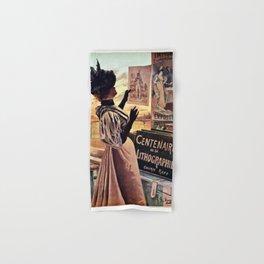 1895 Paris Centennial of Lithography Hand & Bath Towel