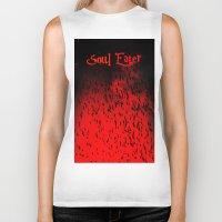 soul eater Biker Tanks featuring Soul Eater by Deb Adkins