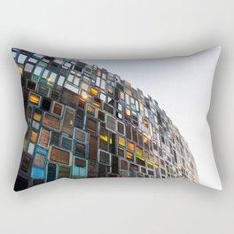 A Wall of Windows Rectangular Pillow