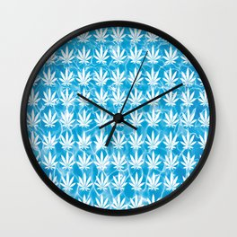 Poolside in White Wall Clock