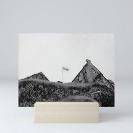 castle gazing | b+w Mini Art Print