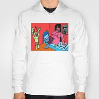 hotline miami Hoodies featuring HOTLINE. by Dave Bell