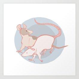 Rats Art Print