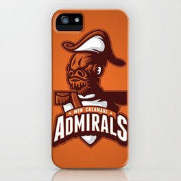 Mon Calamari Admirals on Orange iPhone Case