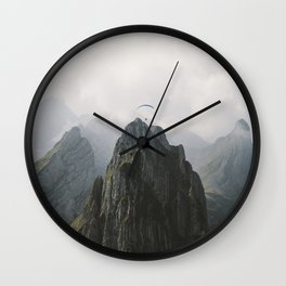 Flying Mountain Explorer - Landscape Photography Wall Clock