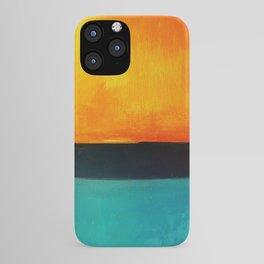 Mark Rothko Interpretation Orange Blue iPhone Case
