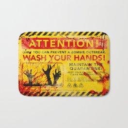 Prevent Zombie Outbreak: Wash your hands! Bath Mat