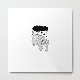I Hate My Brain (No Text) Metal Print